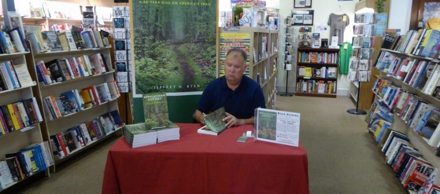 Photo of author Jeffrey Ryan signing books