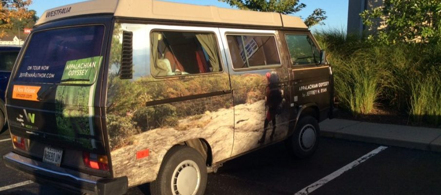 On the road - Author Jeffrey Ryan's 1985 Vanagon.